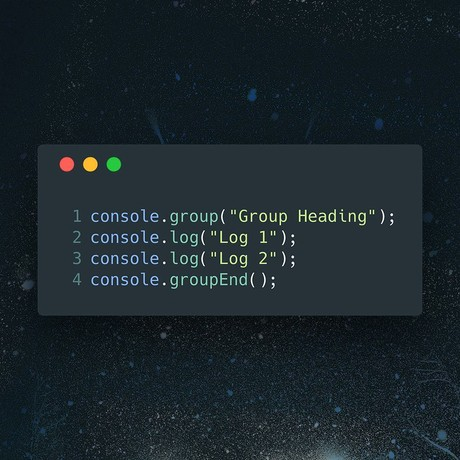 ✂️ Console TIP: Tidy up your console logos by grouping relevant logs together